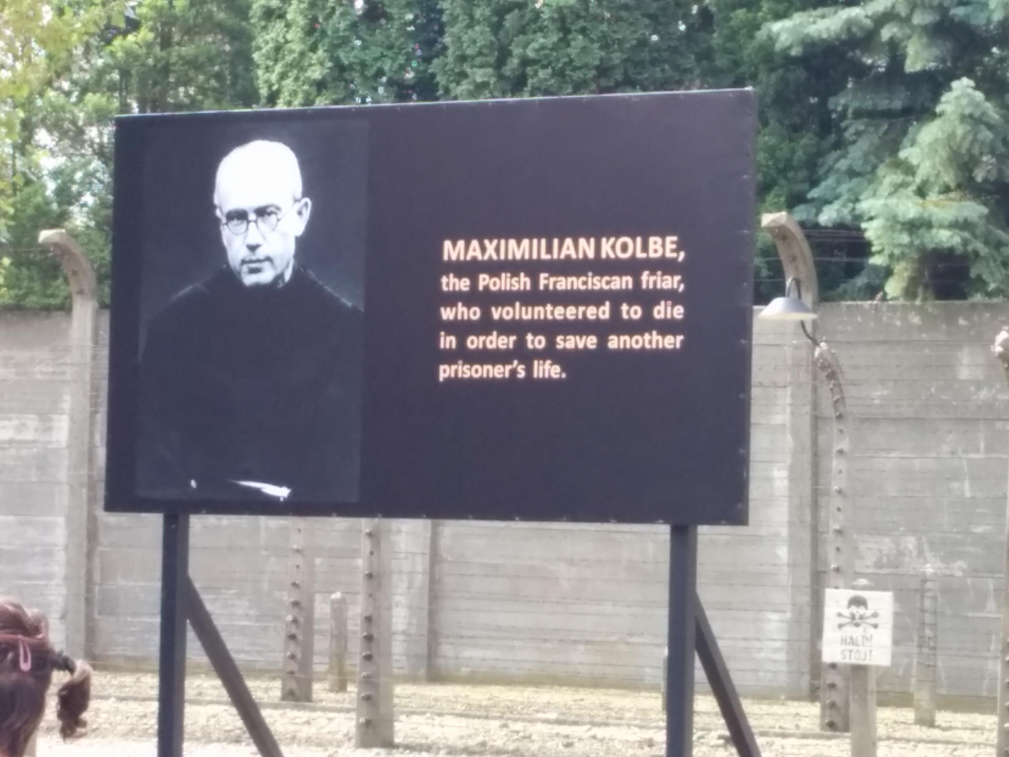 Anslag om Maximilian Kolbe i Auschwitz